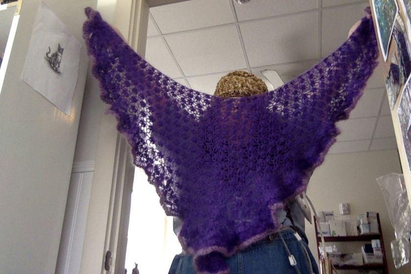 purple mohair shawl 1
