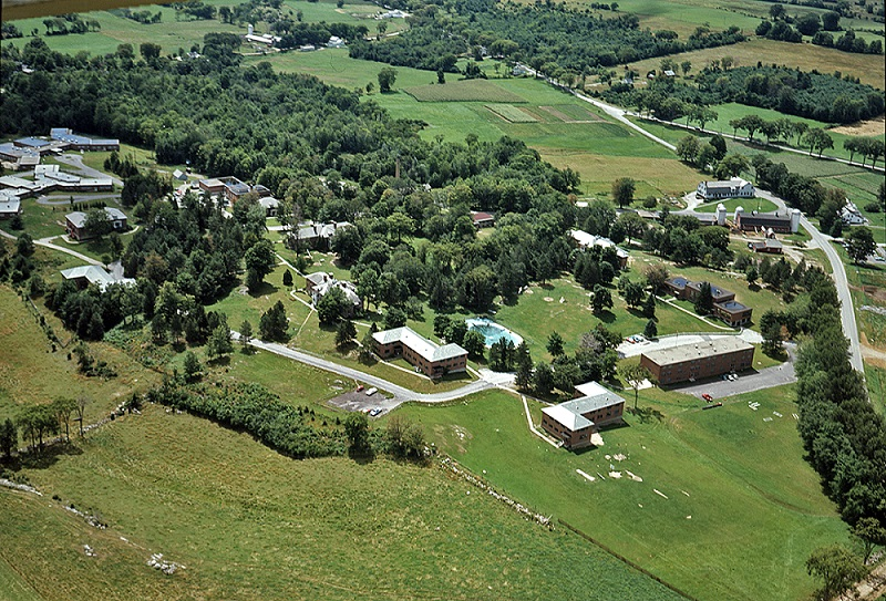 Brandon Training School, a state DD institution as seen from the air.