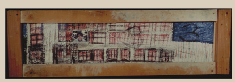 Painting of a state institution for people with developmental disabilities, by a former inmate.